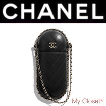 CHANEL MATELASSE Other Check Patterns Lambskin Blended Fabrics Street Style