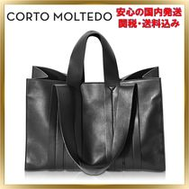 CORTO MOLTEDO Unisex A4 2WAY Plain Office Style Totes