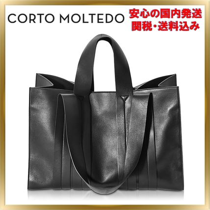 Unisex A4 2WAY Plain Office Style Totes