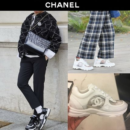 85063d43b922 CHANEL 2018 SS 18SS CHANEL SNEAKERS PVC WITH CC LOGO