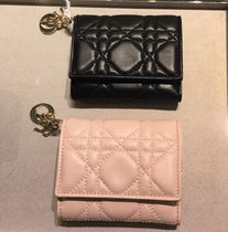 Christian Dior Lambskin Folding Wallets