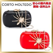 CORTO MOLTEDO 2WAY Chain Plain Elegant Style Clutches
