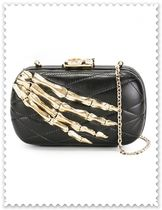 CORTO MOLTEDO 2WAY Chain Plain Elegant Style Crossbody Clutches