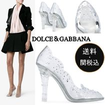 Dolce & Gabbana Flower Patterns Round Toe Party Style PVC Clothing