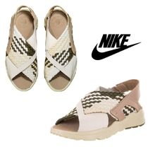 Nike AIR HUARACHE Rubber Sole Casual Style Street Style Plain Leather Sandals