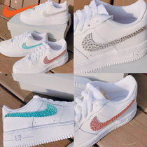 Nike AIR FORCE 1 Rubber Sole Casual Style Unisex Street Style Plain Leather