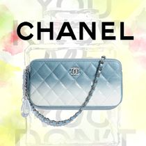 CHANEL MATELASSE Calfskin 2WAY Chain Party Style Clutches