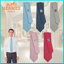 HERMES Silk Other Animal Patterns Ties
