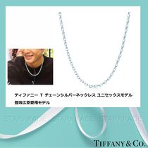 Tiffany & Co Tiffany T Unisex Street Style Plain Silver Necklaces & Chokers