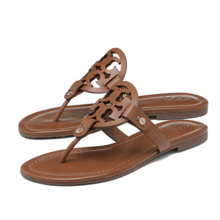 5bd2dd29c307 Tory Burch 2019 SS Leather Sandals (50008694 204) by DOUBLE - BUYMA