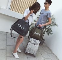Unisex Street Style A4 2WAY Plain Oversized Totes