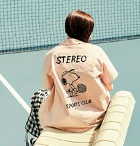 STEREO VINYLS COLLECTION Casual Style Unisex Street Style Cotton Medium Short Sleeves