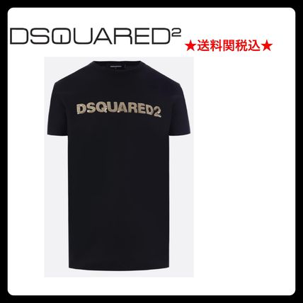 D SQUARED2 Crew Neck Crew Neck Street Style Cotton Short Sleeves