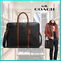 Coach 2WAY Plain Leather Business & Briefcases