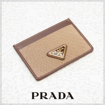 PRADA Canvas Plain Card Holders