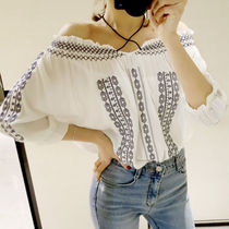Casual Style Street Style Medium Bandeau & Off the Shoulder