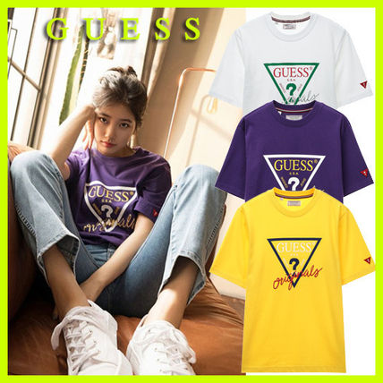 Guess More T-Shirts Unisex U-Neck Cotton Short Sleeves T-Shirts