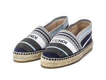 FENDI Stripes Round Toe Casual Style Plain Low-Top Sneakers