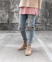 URKOOL Denim Street Style Plain Skinny Fit Jeans & Denim