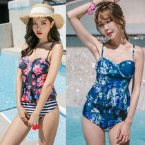 Stripes Flower Patterns Beachwear