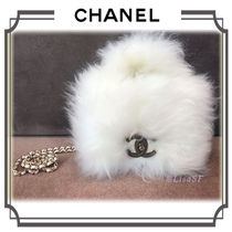 CHANEL Lambskin 3WAY Chain Plain Elegant Style Handbags