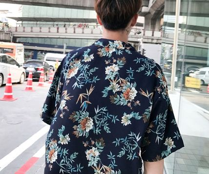 Shirts Flower Patterns Tropical Patterns Short Sleeves Oversized 3