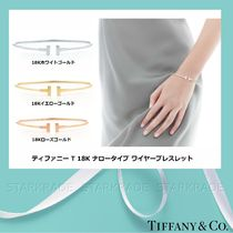 Tiffany & Co Tiffany T Bangles 18K Gold Elegant Style Bracelets