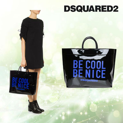 Casual Style PVC Clothing Totes