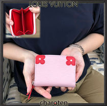 Louis Vuitton ZIPPY COIN PURSE Flower Patterns Calfskin Plain Coin Purses
