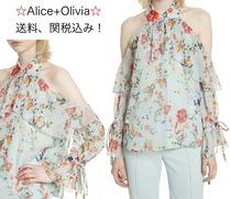 Alice+Olivia Flower Patterns Shirts & Blouses