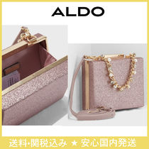 ALDO Studded 2WAY Chain Plain Party Style Clutches