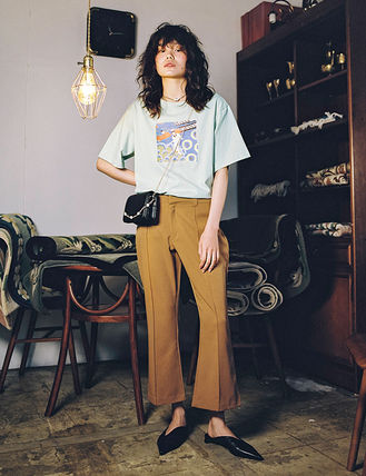 Casual Style Street Style Plain Long Short Length Pants