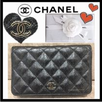 CHANEL MATELASSE Flower Patterns Calfskin 3WAY Elegant Style Shoulder Bags
