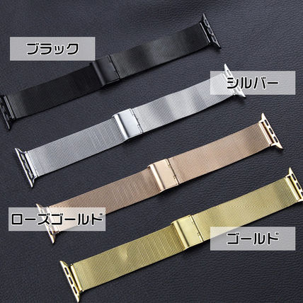 Unisex Stainless Office Style Apple Watch Belt Watches