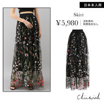 Chicwish Flower Patterns Long Maxi Skirts