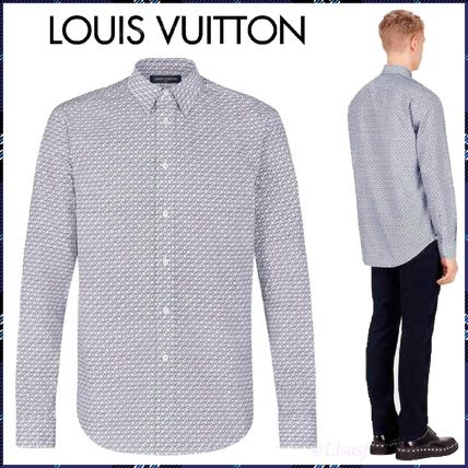Louis Vuitton Monogram Long Sleeves Cotton Shirts