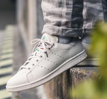 adidas STAN SMITH Flower Patterns Street Style Leather Sneakers