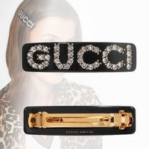 GUCCI Barettes With Jewels Elegant Style Clips