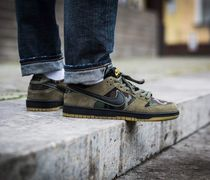 Nike DUNK Camouflage Suede Street Style Sneakers