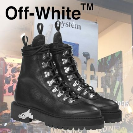 Round Toe Rubber Sole Casual Style Plain Leather Boots Boots
