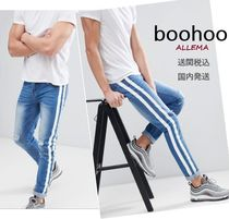 boohoo Stripes Skinny Fit Jeans & Denim