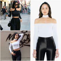 American Apparel Casual Style Street Style Plain Cotton Long