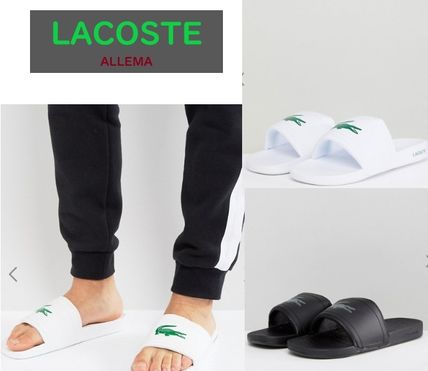 LACOSTE Shower Sandals Street Style Shower Shoes Shower Sandals