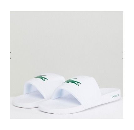 LACOSTE Shower Sandals Street Style Shower Shoes Shower Sandals 2
