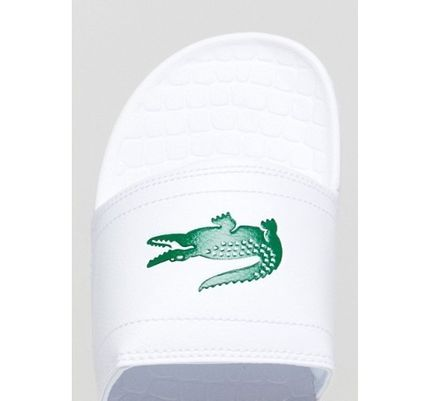 LACOSTE Shower Sandals Street Style Shower Shoes Shower Sandals 3