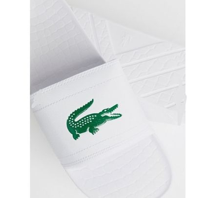 LACOSTE Shower Sandals Street Style Shower Shoes Shower Sandals 4