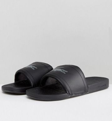 LACOSTE Shower Sandals Street Style Shower Shoes Shower Sandals 6