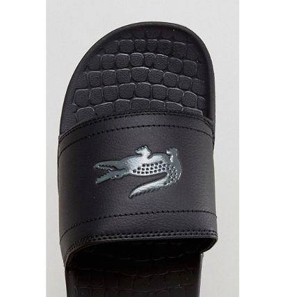 LACOSTE Shower Sandals Street Style Shower Shoes Shower Sandals 8