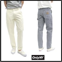 ONLY NY Tapered Pants Stripes Unisex Street Style Cotton