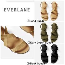 51c33cfcfb6 Everlane Open Toe Casual Style Suede Plain Sandals